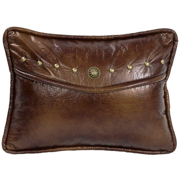 Ruidoso Faux Leather Envelope Pillow w/ Studs