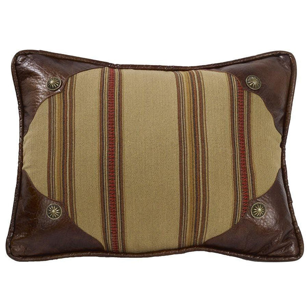 Ruidoso Oblong Striped Pillow w/ Scalloped Corners