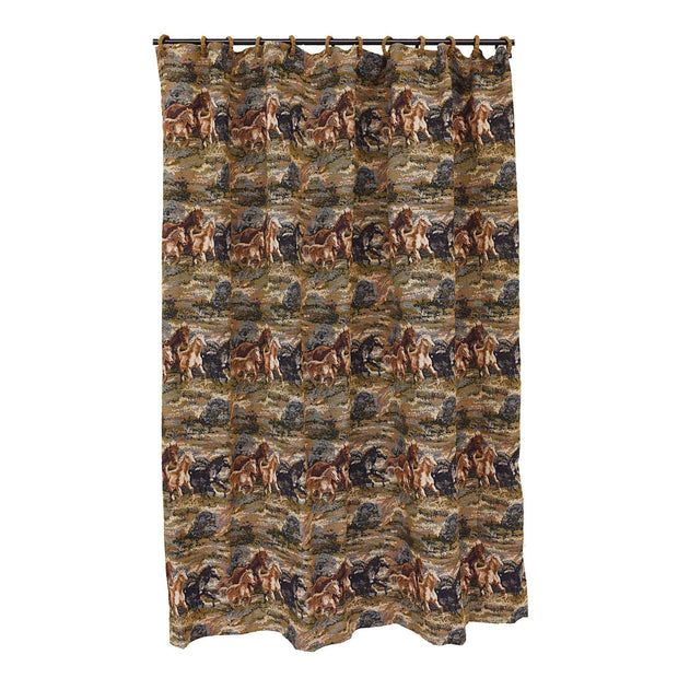Running Horse Shower Curtain, 72x72