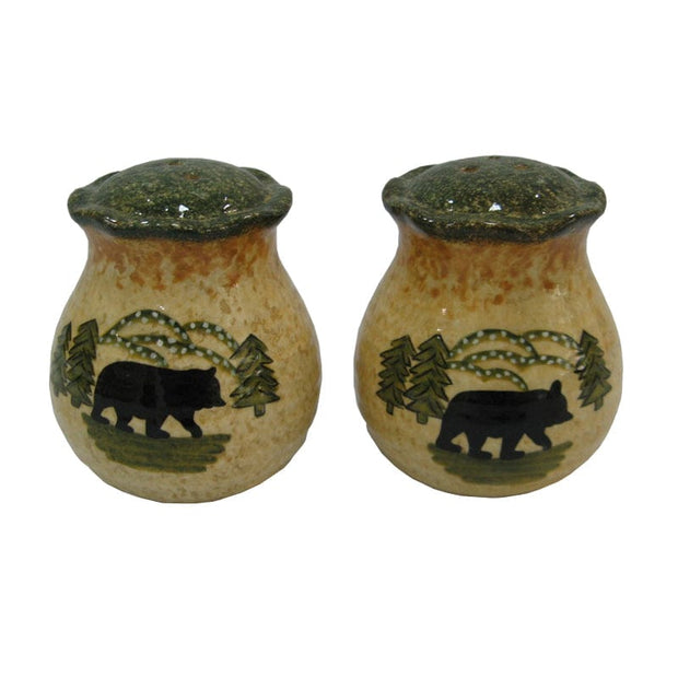 Rustic Bear Salt & Pepper Shaker Set