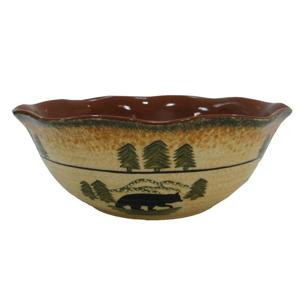Rustic Bear Serving Bowl (EA)
