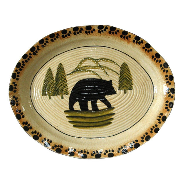 Rustic Bear Serving Platter (EA)