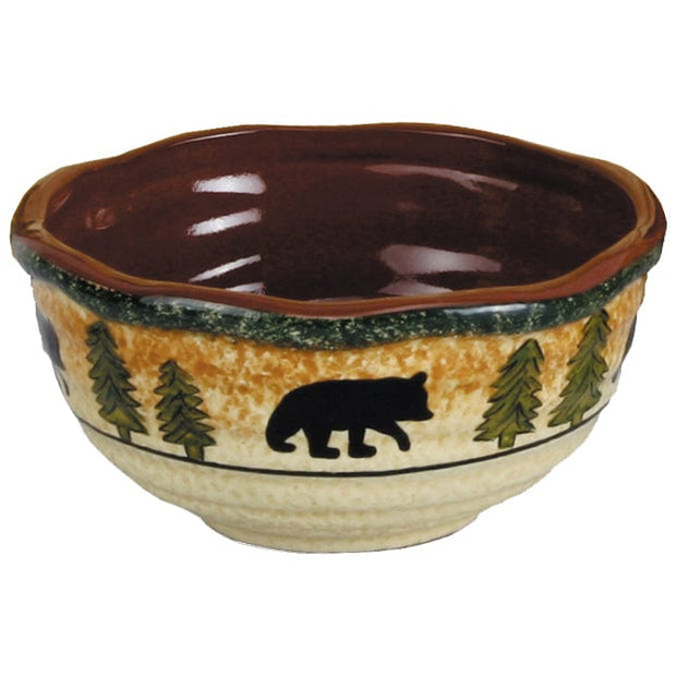 Rustic Bear 16-PC Lodge Dinnerware Set