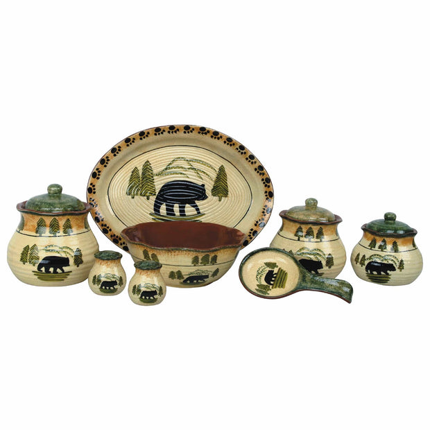 Rustic Bear 3-PC Kitchen Canister Set