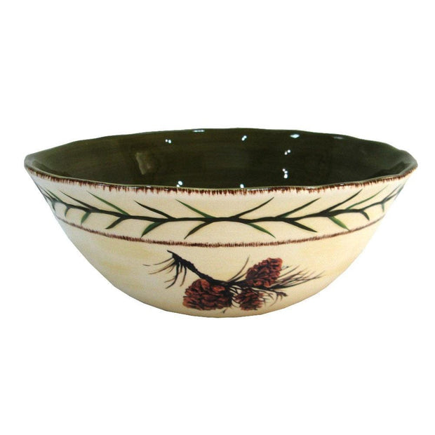 Rustic Pine Cone Serving Bowl (EA)