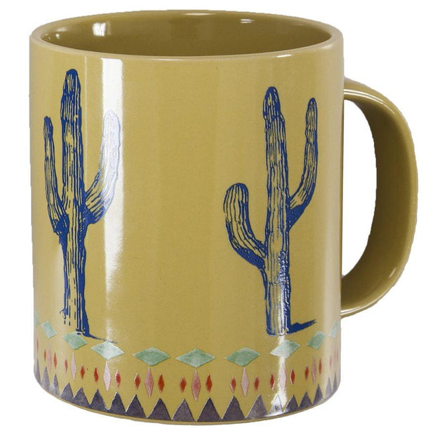 Saguaro Cactus Border 4-PC Coffee Mug Set