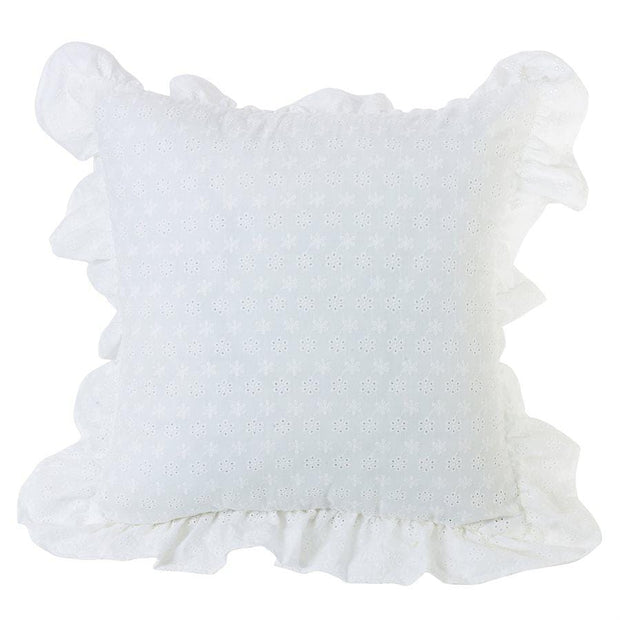 Salado Eyelet Pillow w/ Ruffled Flange