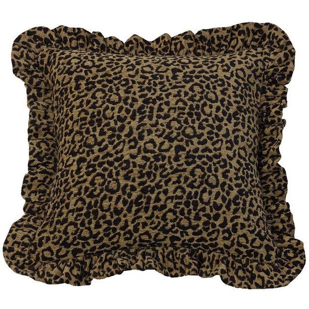 San Angelo Leopard Chenille Throw Pillow