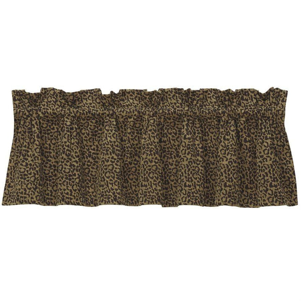San Angelo Leopard Kitchen Valance
