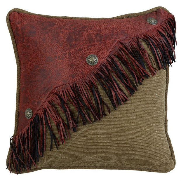 San Angelo Red Diagonal Faux Leather w/ Fringe & Concho