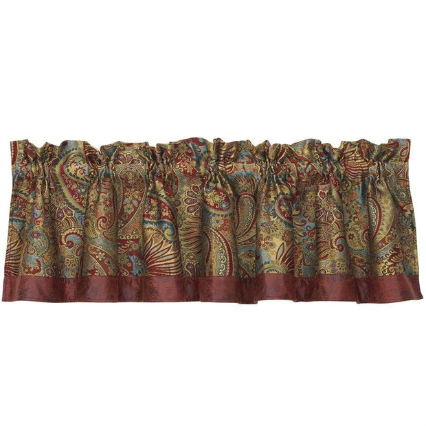 San Angelo Red Kitchen Valance w/ Paisley