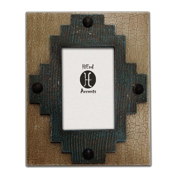 Santa Fe Center Picture Frame, 4x6 - Turquoise