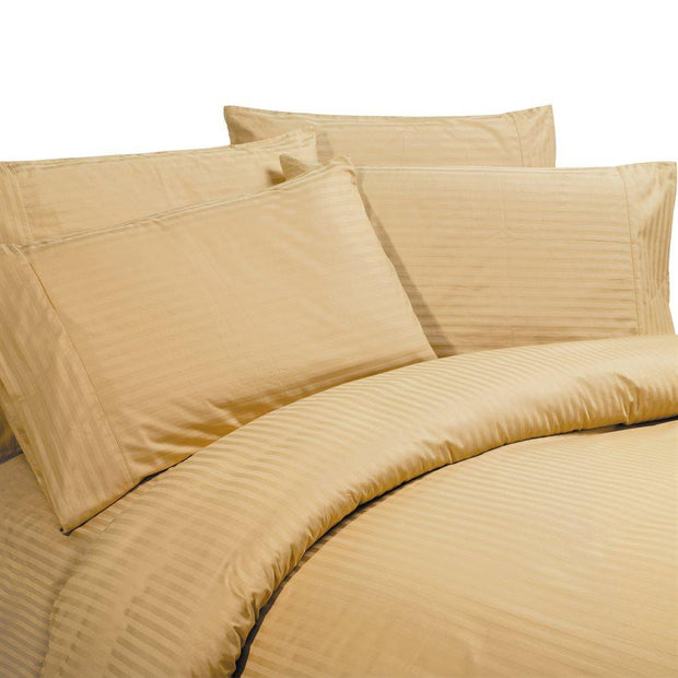 Sateen Stripe Gold Sheet Set