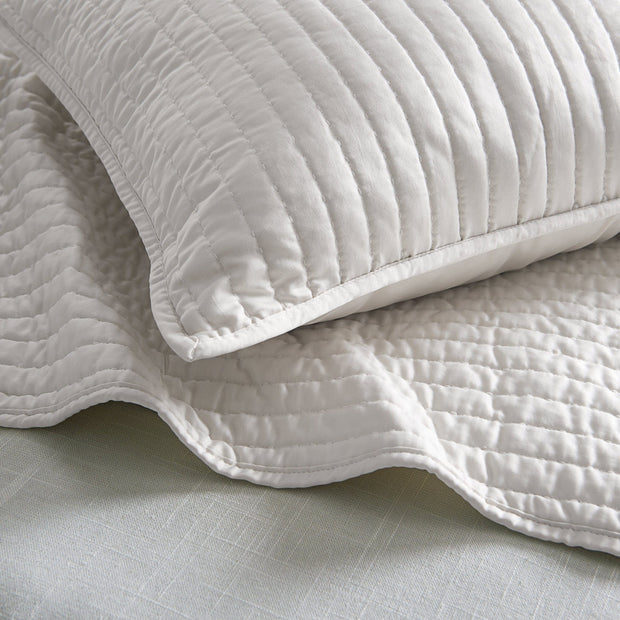 Satin Channel Quilted Euro Sham, 4 Colors