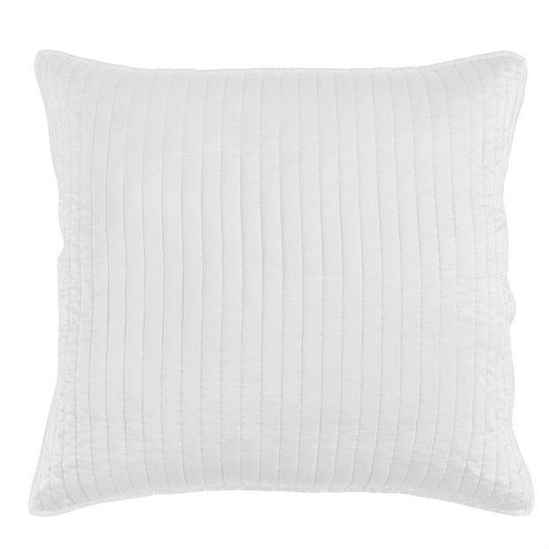 Satin Channel Quilted Euro Sham - 4 Colors