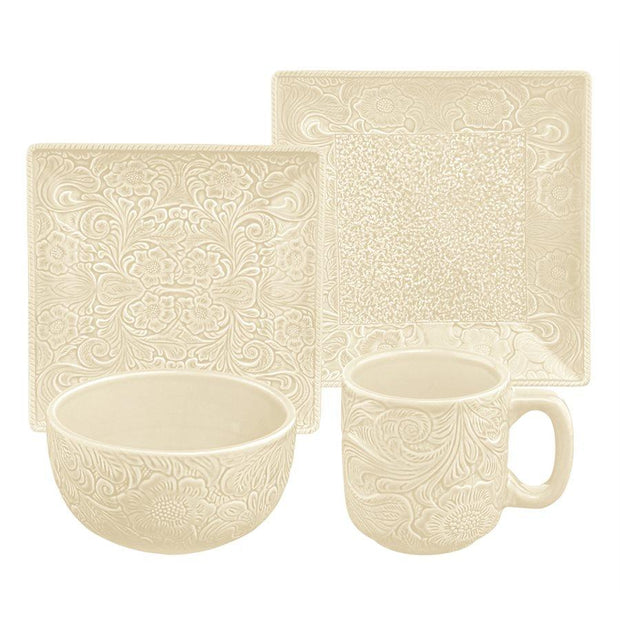 Savannah Cream 16-PC Western Dinnerware Set