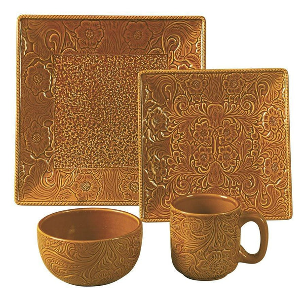 Savannah Mustard 16-PC Western Dinnerware Set