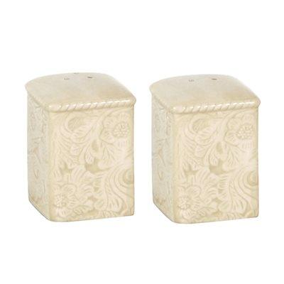 Savannah Salt & Pepper Shaker Set, Cream