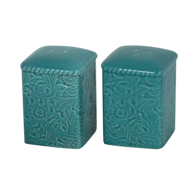 Savannah Salt & Pepper Shaker Set, Turquoise