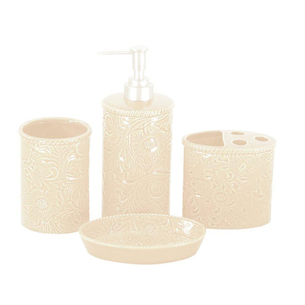 Cream Savannah 9-PC Bath Accessary and Towel Set