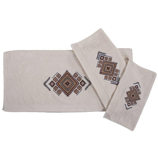 Sedona Aztec 3-PC Bath Towel Set, Cream