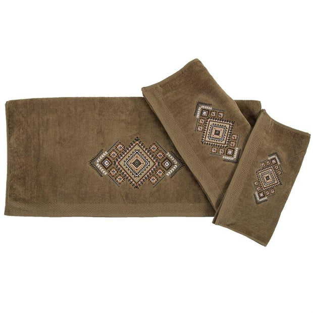 Sedona Aztec 3-PC Bath Towel Set, Mocha