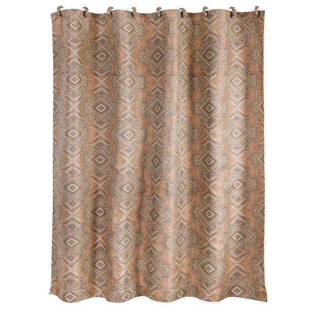 Sedona Jacquard Shower Curtain, Pale Sienna