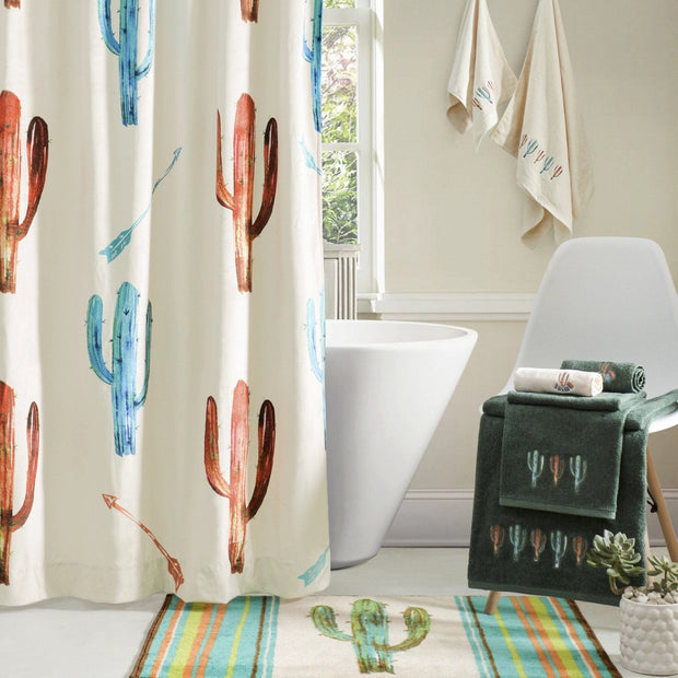 Serape Cactus 3-PC Bath Towel Set, Cream