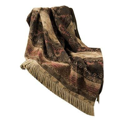 Sierra Red, Brown & Tan Chenille Throw Blanket