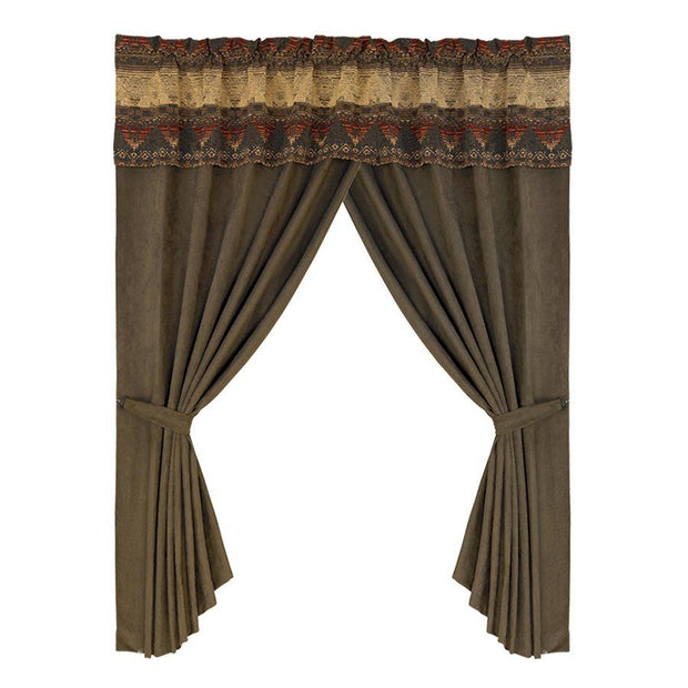 Sierra Rod Pocket Window Curtains (PAIR) w/ Valance