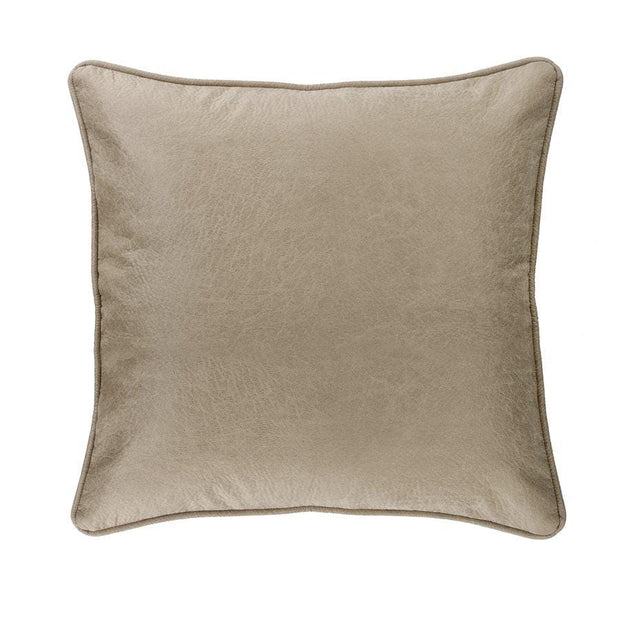 Silverado Buff Gray Faux Leather Euro Sham