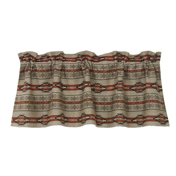 Silverado Rust, Gray & Taupe Kitchen Valance