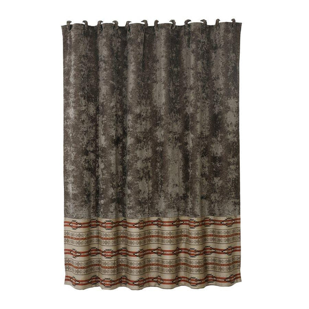 Silverado Shower Curtain, Charcoal Velvet