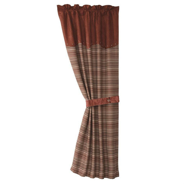 Silverado Striped Single Panel Curtain w/ Tieback
