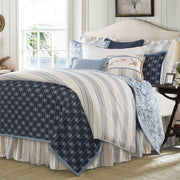 Skyler 3-PC Reversible Quilt Set, Blue & White