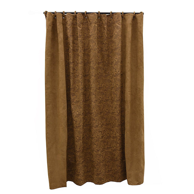Small Paisley Shower Curtain, 72x72 - Dark Tan