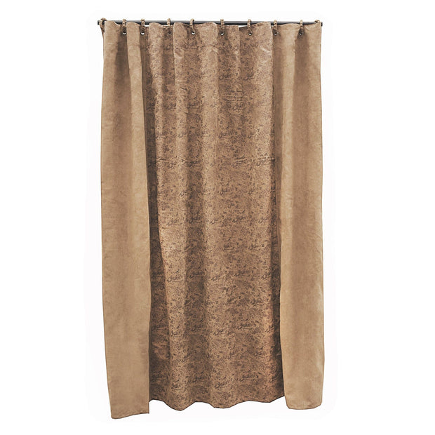 Small Paisley Shower Curtain, 72x72 - Light Tan