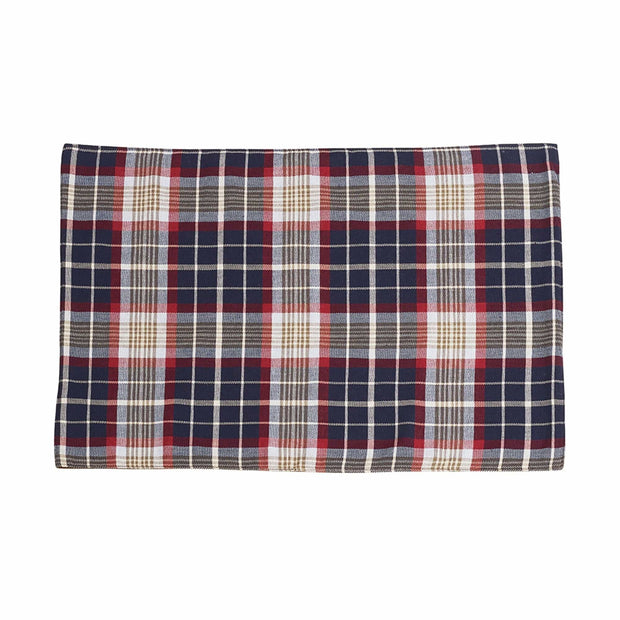 South Haven Blue Plaid Placemat w/ Rope Detail, 14x20 (Set of 4)