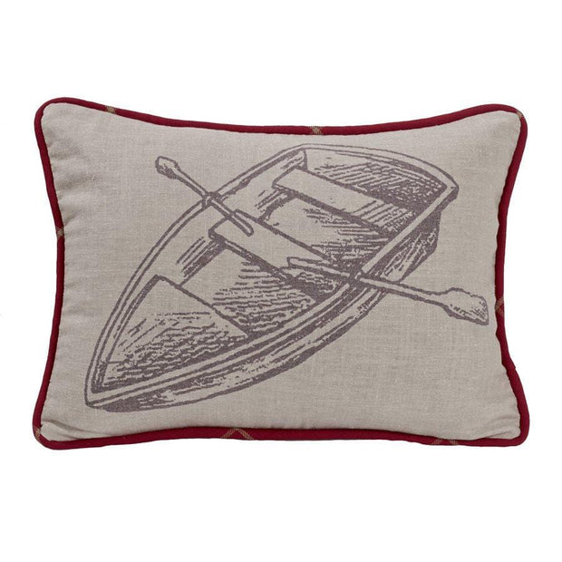 South Haven Printed Rowboat Accent Pillow, 16x21