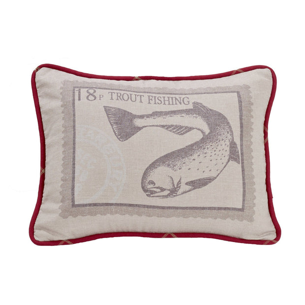 "South Haven Printed Trout Accent Pillow, 16"" x 21"""