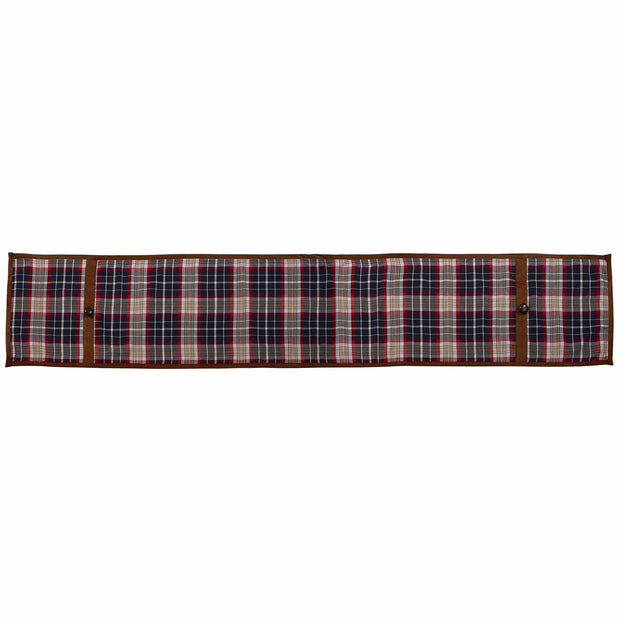 South Haven Blue Plaid Table Runner with Suede, 14x72