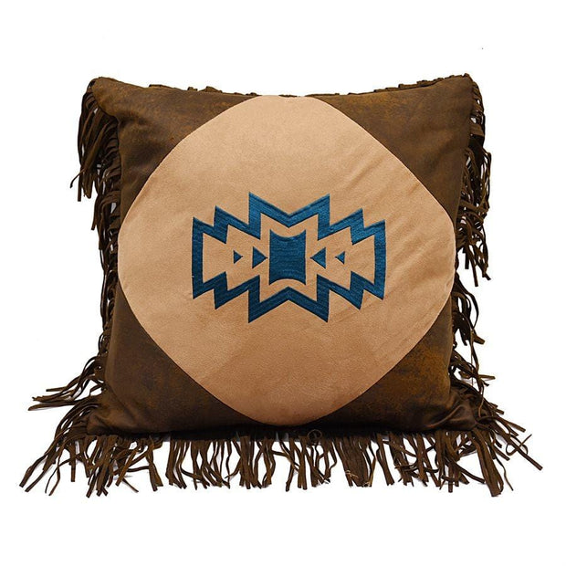 Emblem Throw Pillow w/ Fringe