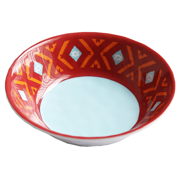 Southwest Motif 4-PC Melamine Dinner Bowl Set