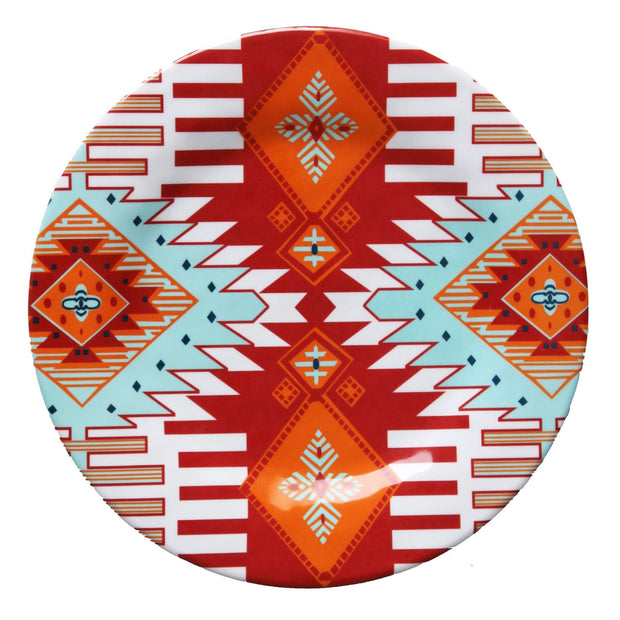 Southwest Motif 4-PC Melamine Dinner Plate Set