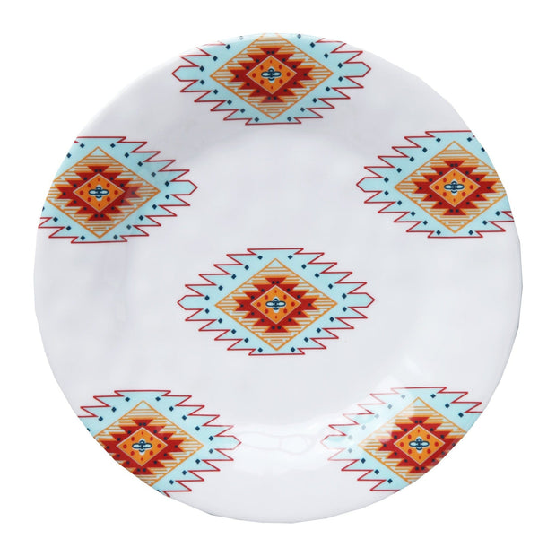 Southwest Motif 4-PC Melamine Salad Plate Set