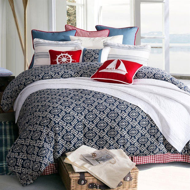 St. Clair 4-PC Coastal Bedding Set, Blue & White