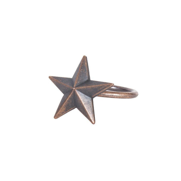 Star Design Western Napkin Rings (Set of 6)