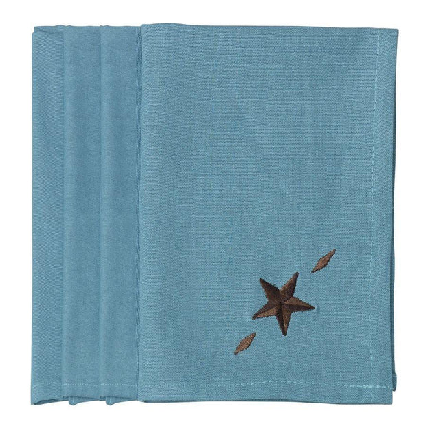 Star Napkin - Turquoise (Set of 4)