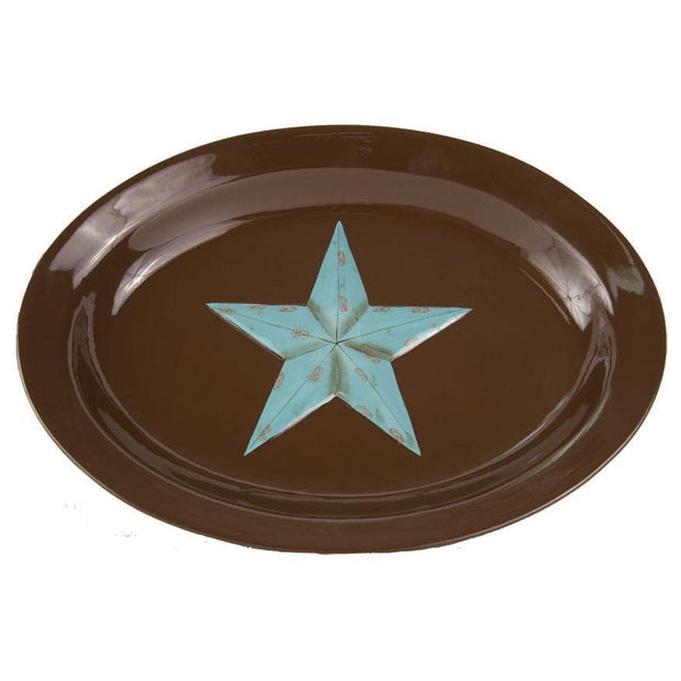Star Serving Platter Turquoise