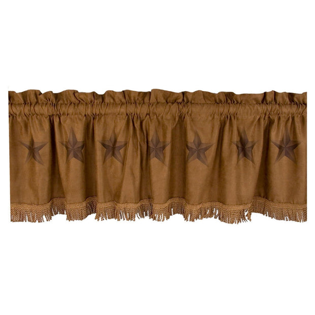Light Tan Luxury Star Valance, 16x60